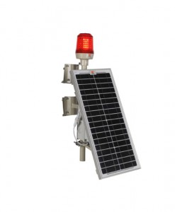 wetra single solar powered aviation obstruction light