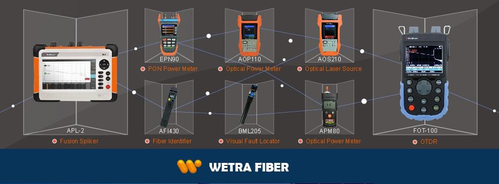 Wetra Fiber Optik Test ve Ölçüm Cihazları. Fiber optik kablo için otdr, powermetre, lazer ışık kaynağı